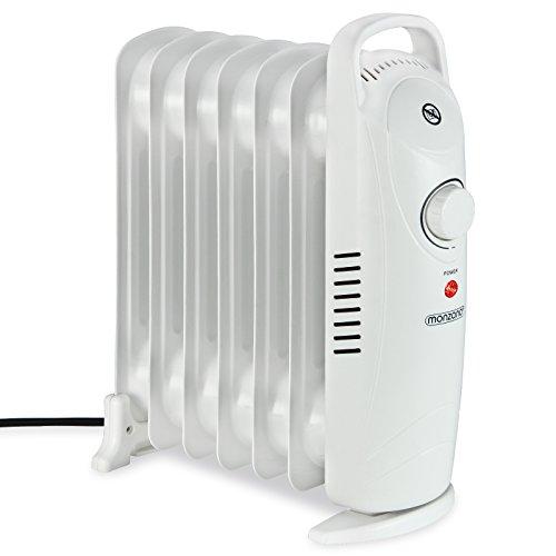 Deuba Monzana Ölradiator 7 Rippen Öl Radiator Elektroheizung Heizer Kurze Aufheizzeit allergikerfreundlich Thermostat elektrisch