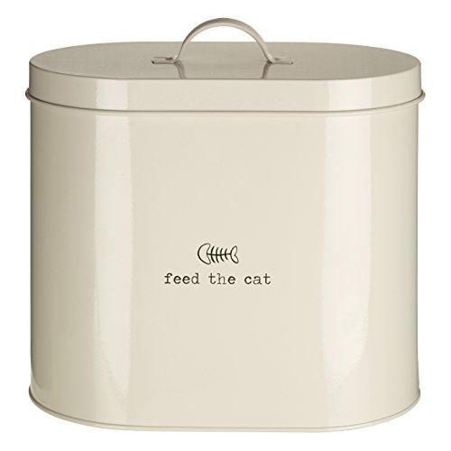Premier Housewares, Adore Pets Lucky Dog, Contenitore per Cibo con Cucchiaio, Naturale, 6,5Litri, Metallo, Cream, 6.5 Litre
