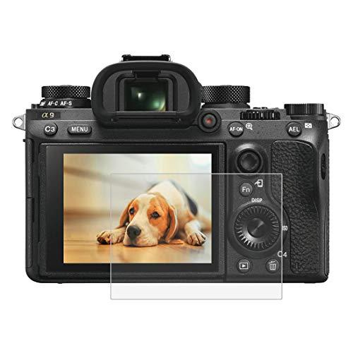 BYbrutek Pellicola Salvaschermo in Vetro Temperato per Sony ILCE-9 (A9), Durezza 9H, Antigraffio Pellicole Protettive per Display per Fotocamera Digit