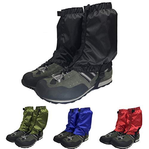 VORCOOL 1 Paar Schnee Gamaschen Leichte Wasserdichte Knöchel Gamaschen für Outdoor Wandern Klettern (Dunkelgrün) - 5