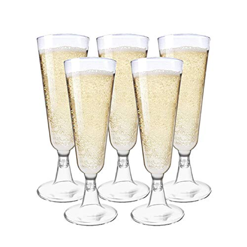 Matana 48 Eleganti Bicchieri Flute da Champagne in Plastica Trasparente - 150ml