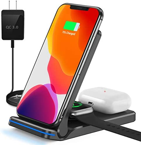 Wireless Charger 3 in 1 Wireless Charging Station for iWatch AirPods Pro 2 Qi Fast Wireless product image