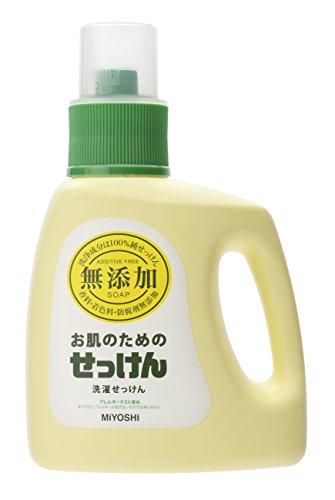 ミヨシ石鹸 無添加 お肌のためせっけん ボトル1.2L