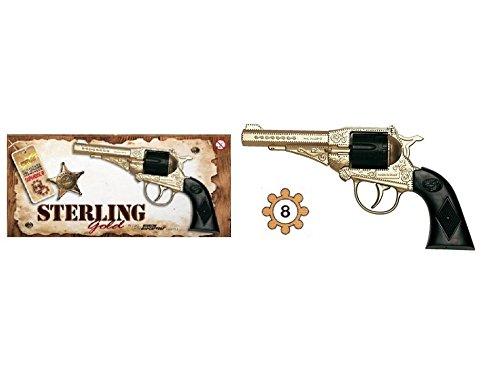 LES COLIS NOIRS LCN Jouet Pistolet Revolver Sterling Gold + Amorce 8 Coups 17cm Catégorie F1 - 573