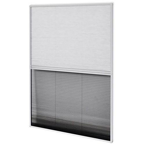 vidaXL 142617 Insektenschutz Plissee Alurahmen Jalousie Fliegengitter Dachfenster, Weiß