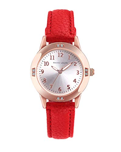 Girls Watches Ladies Watch for Gift Students Watches for Girls age11-15 Simple Japanese Movement Casual Leather Band Watches for Kid Ladies Fashion Women Watches