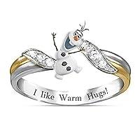 LLDE ファッション古典的なリング幾何人気かわいい漫画雪だるまリングパーティーガール誕生日ギフトジュエリー 人気 誕生日プレゼント