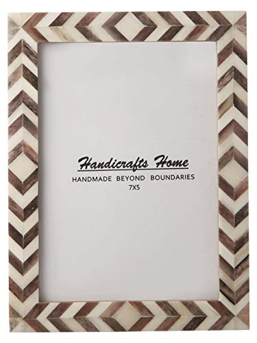 Brown-weiße Zickzack-Bilderrahmen-Mosaik-marokkanische Muster-Foto-Rahmen-Größe 5x7
