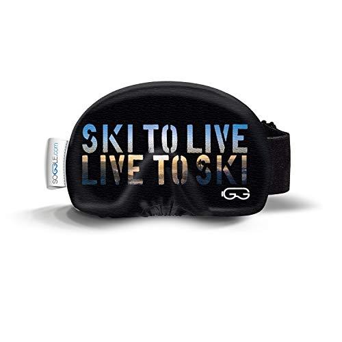 SOGGLE Funda protectora para gafas de esquí (microfibra, talla única), color: texto en directo a ski
