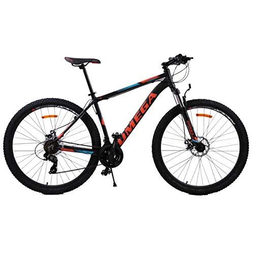 OMEGA BIKES Thomas 29 Zoll Mountainbike, geeignet ab 185 cm, Scheibenbremse, Shimano 21 Gang-Schaltung, Gabel-Federung, Jungen-Fahrrad & Herren-Fahrrad (orange)