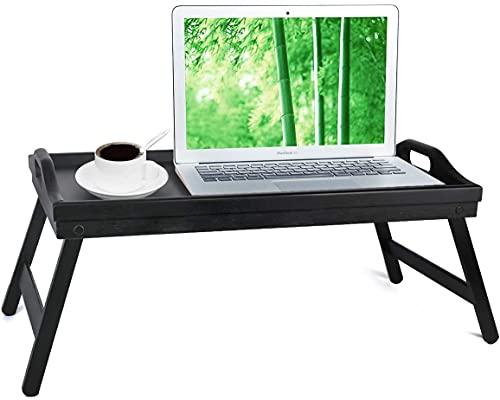 Betttablett, Betttisch mit klappbaren Beinen, für Frühstück im Bett oder als Serviertablett, TV-Tisch, Laptop-Tablett, Snack-Tablett