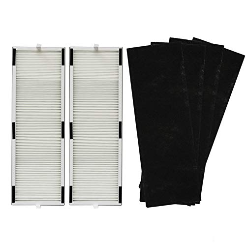 PUREBURG Replacement 2 HEPA Filters & 4 Carbon Pre-Filters Compatible with LivePure LP-HF250 LP-PF600 Fits LivePure LP250TH/LP260TH Sierra Series True HEPA Mechanical/Digital Tall Tower Air Purifiers