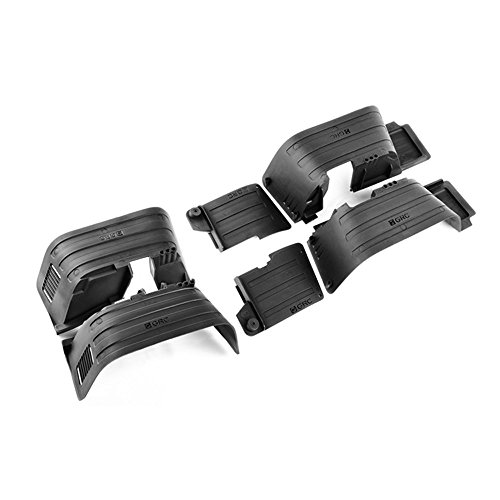 INJORA RC Guardabarros RC Mud Flaps Fender Set RC Splash Guard para 1/10 RC Crawler Axial SCX10 II 90046 90047