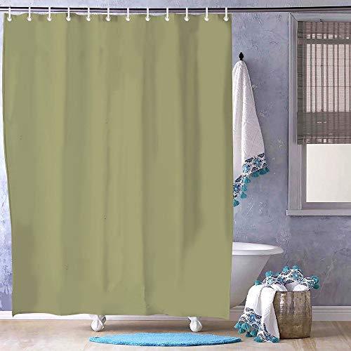 FabricMCC Duschvorhang, 180,3 x 180,3 cm, Salbeigrün / Olivgrün