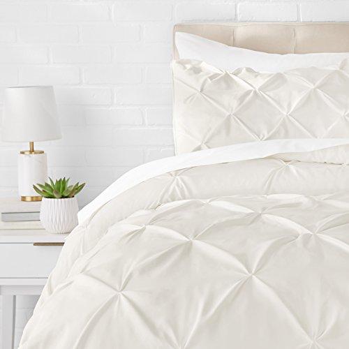 AmazonBasics - Juego de cama con colcha fruncida en pellizco