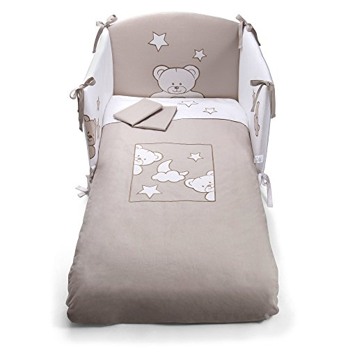 Pali 0687023085Juego de ropa de cama, 3pieza Georgia, taubengrau
