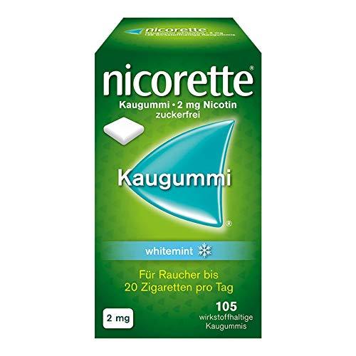 Nicorette Kaugummi 2 mg whitemint, 105 St