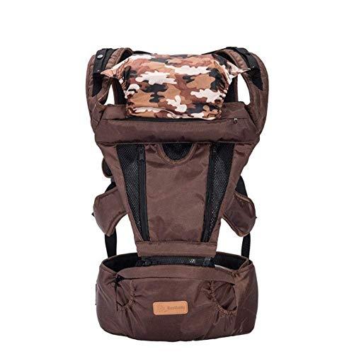 ZYCH Cadera Tela Oxford Baby Carrier Ergonómico Impermeable Bandoleras Portabebé Extraíble en La Espalda con Correas de Hombro Suaves Marsupios Portabebé Transportador