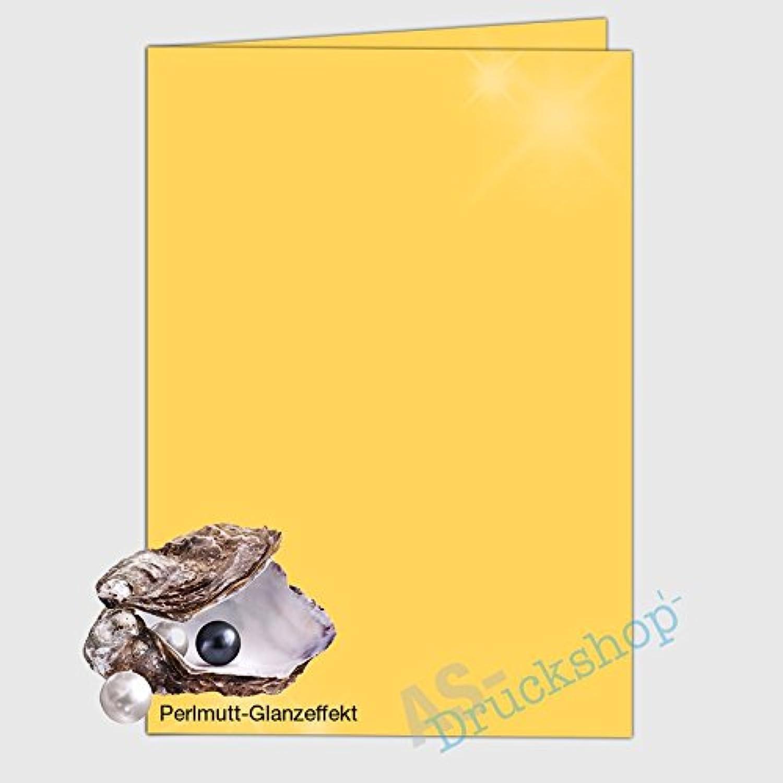 Faltkarte Faltkarte Faltkarte   Doppelkarte DIN A6 -  Gold  - mit Perlmutt-Glanz - 50 Stück B01MS5007T | Charmantes Design  004dfb