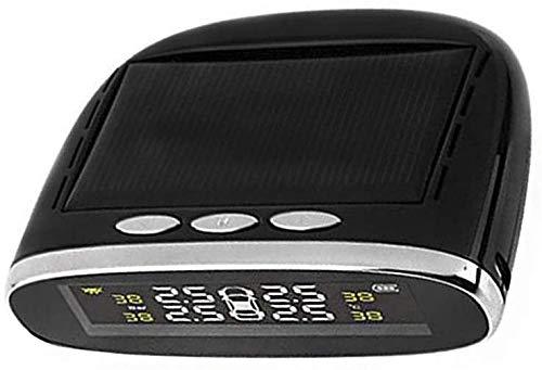 ZOUSHUAIDEDIAN Sistema de monitoreo de presión de neumáticos: carga solar, pantalla LCD, luz de retroiluminación automática y modo de sueño y despierto, con 4 sensores de TMPs externos, operación simp