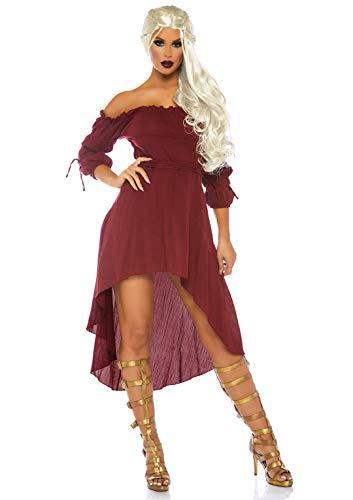Leg Avenue Women's M Gauze High Low Peasant Dress with Tie Up Waist...
