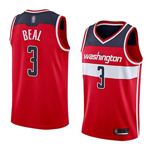 XXMM Camiseta De Moda, Camiseta NBA Washington Wizards # 3 Bradley Beal Sports, Uniforme De Baloncesto Sin Mangas De Malla Transpirable, Cómodo De Llevar,XL(180~185CM)