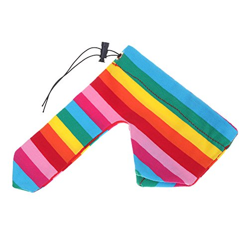 EROSPA® Penis-Hoden Beutel mit Zugband - Penishülle Sleeve - Gay/Herren/Männer - String Slip - Farbe Regenbogen