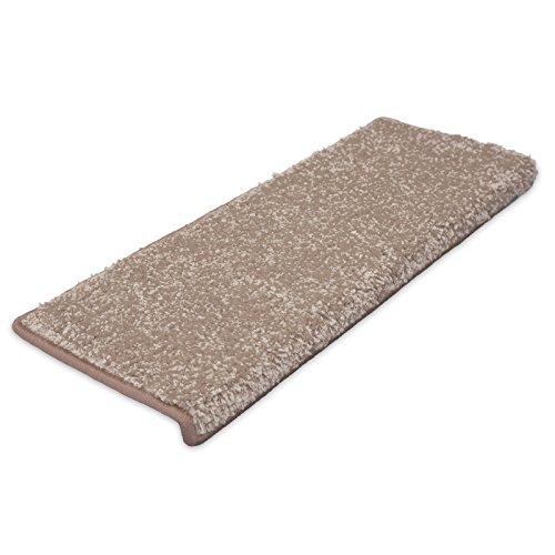 Stufenmatte uni beige | Qualitätsprodukt aus Deutschland | GUT Siegel | kombinierbar mit Läufer | 65x23,5 cm | rechteckig | einzelne Matte
