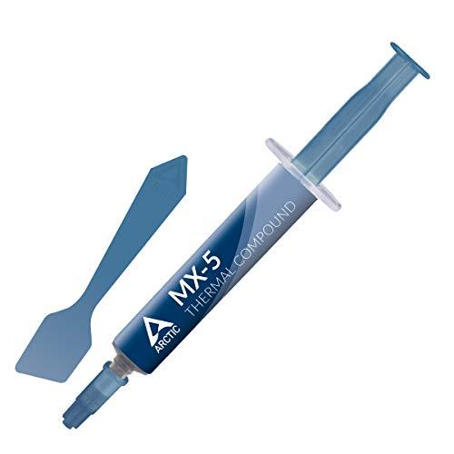 ARCTIC MX-5 (4 g, inkl. Spachtel) - Qualitäts-Wärmeleitpaste für alle CPU-Kühler, hohe Wärmeleitfähigkeit, niedriger thermischer Widerstand, Lange haltbar, metallfrei, Nicht leitend, Nicht kapazitiv