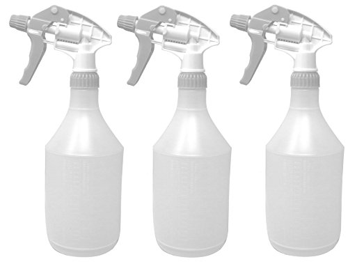 Clay Roberts Sprühflasche für Pflanzen, 3 Stück, Weiß, 750 ml Kapazität mit Messuhr
