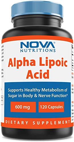 Nova Nutritions Alpha Lipoic Acid 600 mg 120 Capsules