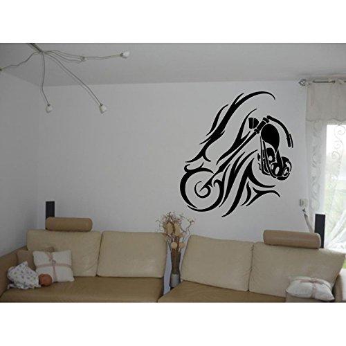 TATOUTEX Stickersnews - Adesivi tribali, 110 x 123 cm, Colore: Argento