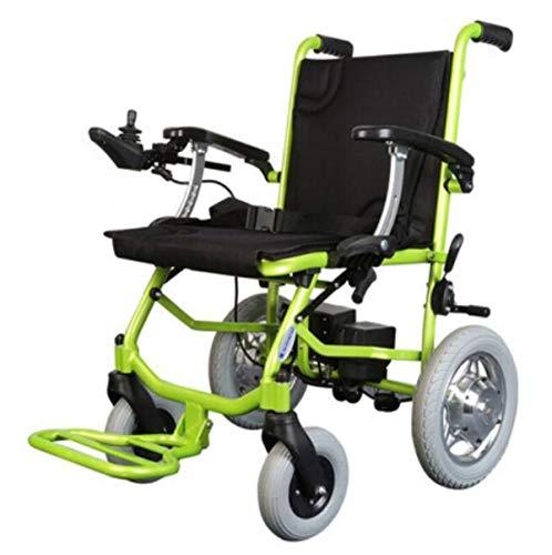 BYCDD Silla de Ruedas, para Trabajo Pesado Portátil Seguridad Plegable Eléctrica Power Chair de alimentación para sillas de Ruedas de Motor,Black