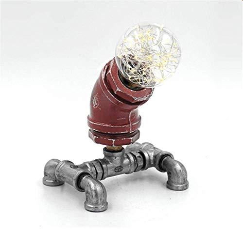 DJY-JY Lámpara de Escritorio LED con Carga USB Oficina Estudio Puerto Dormitorio de Noche de Lectura lámpara DIY del Tubo de Agua de Mesa Lámpara E27 con el Interruptor de la Cremallera