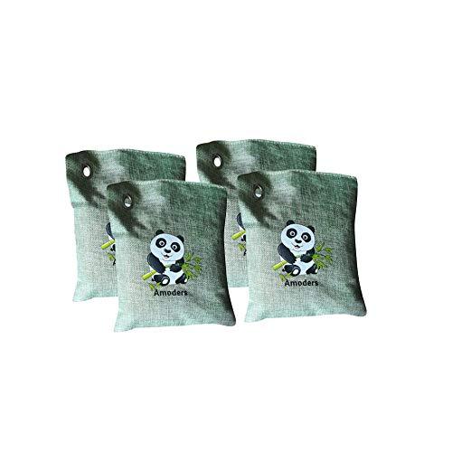 Tasche aus Aktivkohle für Geruchsentferner Deodorant für Räume mit Aktivkohle Holzkohle Holzkohle Holzkohle aufsaugfähig Kohle 4 Stück A