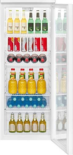 Bomann KSG 7280 Réfrigérateur pour porte vitrée / 256 L/Hauteur 143 cm/Largeur 55 cm/Décongélation automatique/LED éclairage intérieur blanc