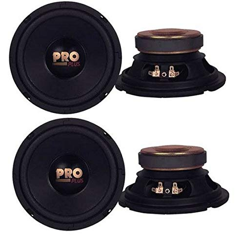 "4) Pyramid W64 6.5"" 800 Watt Car Audio Midrange/Mid Bass Poly Woofers Speakers"