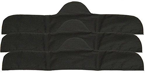 "3-Pack Bra Liners in Black (18"" Medium - for Bra: 36-38)"