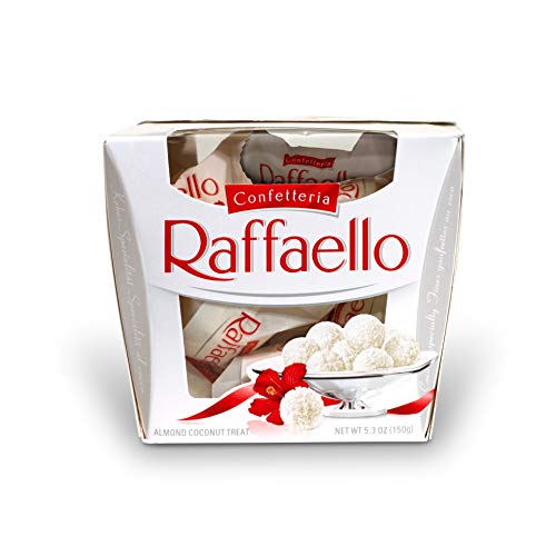 Ferrero Raffaello Almond Coconut Candy, 15 Count, Pack of 6 Individually Wrapped Coconut Candy Gift Boxes, 5.3 oz