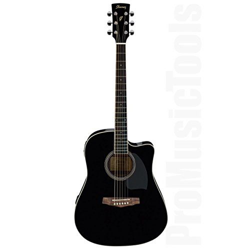 Ibanez PF15ECE-BK chitarra elettroacustica, nera
