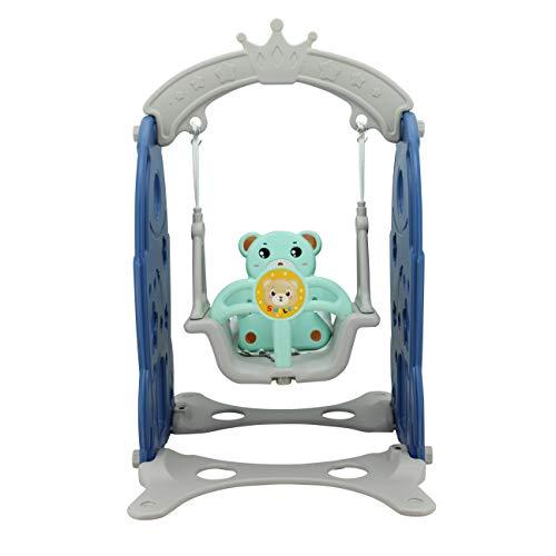 Sweety Toys Columpio 12800 con diseño de cohete y oso, color azul