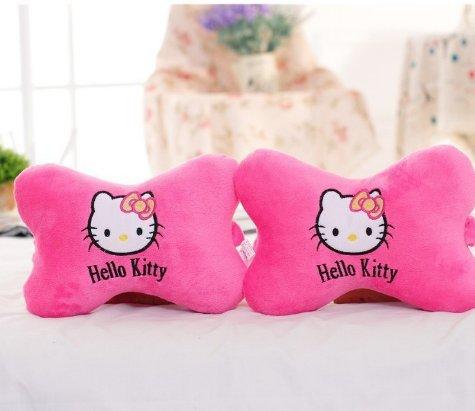 Hello Kitty - Almohada para reposacabezas de Coche, diseño de Gato, Color Rosa