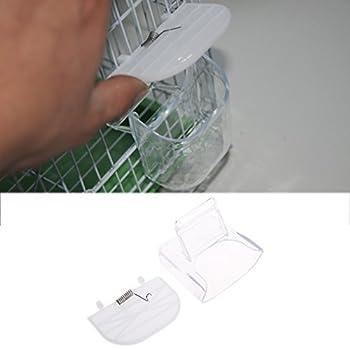 BASSK Oiseau créatif mangeoire Nourriture Abreuvoir Abreuvoir Suspendu Cage volière Perroquet Budgie inséparable