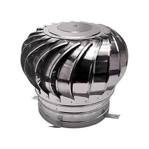 LTLWSH Sombrero Extractor De Humos Inoxidable Giratorio para Tubo, Caperuza De Salida De Humos Giratoria, Base Redonda,300mm