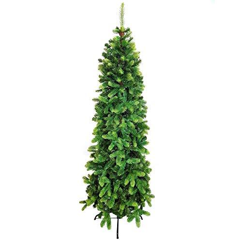 Scaramuzza Modo Albero di Natale Slim 210 cm Artificiale in Silicone e PVC MOD. Alpino, Molto Folto, Realistico