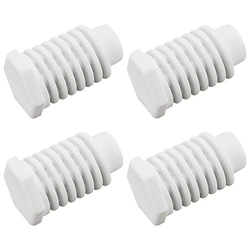 Blutoget 49621 Dryer Leveling Leg feet - Replaces W10823505 AP4295805 PS1609293 EAP1609293 (Pack of 4) - Replacement For Whirl-pool Dryer