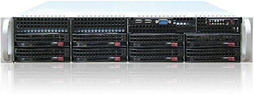 Super Micro CSE-825TQ-563LPB Server Gehäuse 2U inkl. 560W (E-ATX, 8X 3,5 SAS/SATA, 2X USB) schwarz