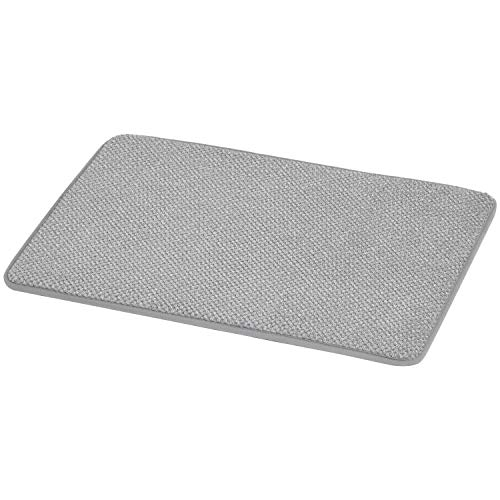Amazon Basics Textured Memory Foam Bath Mat - Grey, Small