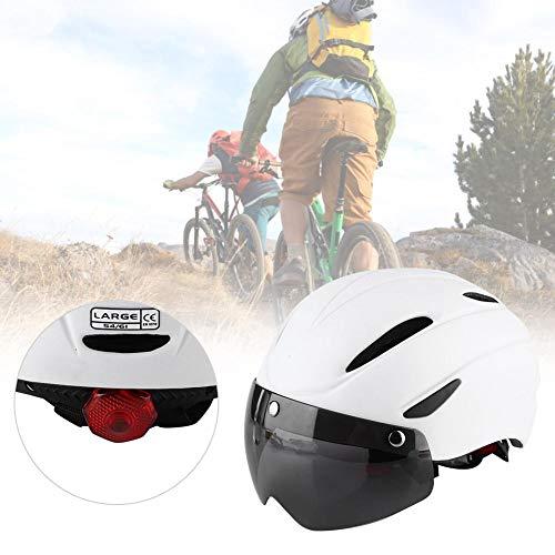 lahomie Erwachsenen-Fahrradhelm mit Brille, leichter Skateboard-Scooter-Helm mit leichtem, atmungsaktivem Helm, Sicherheitsschutz für Sport, Reiten, Fahrrad (weiß)