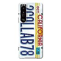 Xperia 1 Ⅲ ケース SO-51B SOG03 ハードケース [薄型/耐熱/全面印刷] Numberplate (ホワイト) エクスペリア スマホケース スリム CollaBorn Oilshock Designs (オイルショックデザインズ)